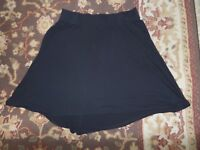 LIZ LANGE MATERNITY WOMEN'S BLACK KNIT CASUAL SKIRT SIZE SMALL