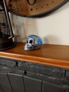 Detroit Lions Skull Helmet Ceramic MEX. Clay Figure, Hand made/Painted 3''