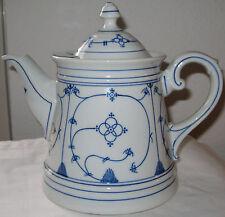 Alte große Teekanne Strohblume/Indischblau um 1900/10 Eisenberg/Rauenstein