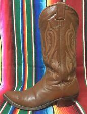 Vintage Nocona Cowboy Western riding boots  choc brown   Men's 8.5 D