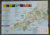 Cornwall Lands End Tourist Map Attractions Excursions Wildlife Sightseeing