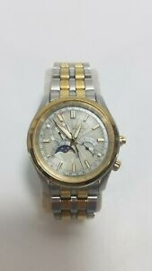 Citizen WR-100 Eco-Drive Calibre 8651 Moon Phase Watch Two Tone Gold & Silver