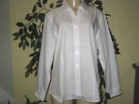 Coldwater creek Women's white Business Cotton iron shirt top Blouse plus 1X 2X3X