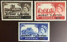 Kuwait 1955 Castles Set SG107-109 MNH