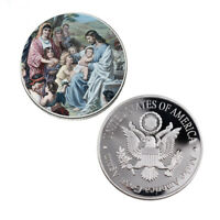 Unique Souvenir Gifts Jesus 999.9 Silver Plated Metal Coin World Coin Collection