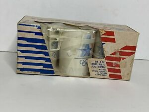 1984 Los Angeles Olympic Mug Set of 6 8 Oz NOS New In Box Vintage 1980 XXIII
