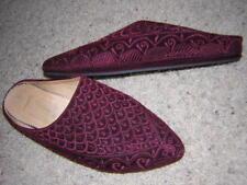 ATLAS Women's Maroccan Leather Mule Slide Shoes Size 6M