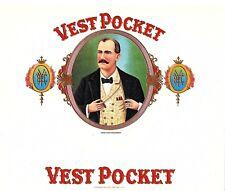 Vest Pocket Vintage Antique Cigar Box Label Consolidated Litho. Corp Carle Place