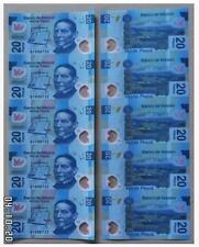 Mexico 20 Peso 5in1 Uncut 墨西哥 20比索 5连体钞 塑料钞