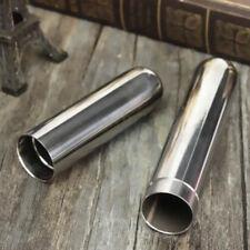 Acciaio Inox Singolo Sigari Tubo Custodia Tabacco Sigarette Supporto 17 x 2cm