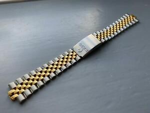 RADO 8MM SHOLDER 20MM SOLID 2/TONE YELLOW SILVER CURVED LUGS Gents Watch Strap.
