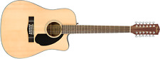 Fender CD-60SCE 12 String Cutaway Solid Top Acoustic Electric Guitar 0970193021