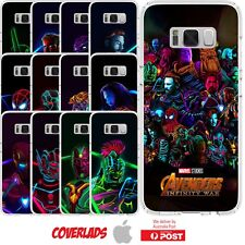 Android Silicone Cover Case Marvel Avengers Infinity War Super Hero - Customlads
