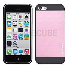 iPhone 5c Hard Case Hülle Cover Bumper Tasche Metalloptik Schutzhülle Rosa