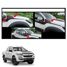 New Chevrolet Holden Colorado 17 + Side Hood Vent Simulator Black Red Trim 2 Pc