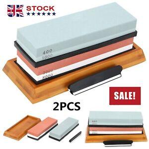 400/1000+3000/8000 Grit Premium Whetstone Cut knife Sharpening Wet Stone Set