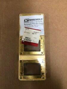 Wiremold Walker Legrand 837T Brass 3-gang tile flange
