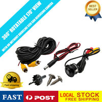 360° Reverse Car Rear Front Backup View Camera HD CCD Night Vision IP67 3 in 1