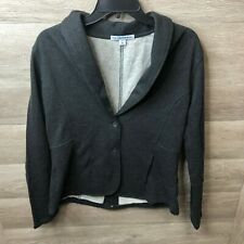 Port Authority Womens Size Medium Dark Charcoal Heather Fleece Blazer NWOT
