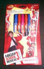 Disney High School Musical 3 Office Supplies 5 Pack Pens 3 prints