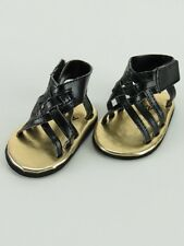 "Doll Clothes AG 18"" Sandals Black Made To Fit American Girl Dolls"