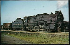 SANDUSKY OH Pennsylvania PRR Decapod Locomotive Vtg PC Postcard