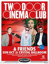 TWO DOOR CINEMA CLUB & FRIENDS 2012 PORTLAND CONCERT TOUR POSTER - Indie Rock