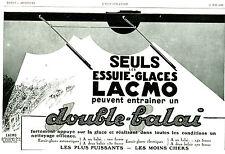 Publicité Ancienne  Voiture Essuie-Glaces LACMO 1929