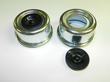 """(2) -Trailer Axle Dust Cap Cup Grease Cover & plug RV Camper Utility 2.44"""" large"""