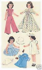 "1728 Vintage Slender Doll Pattern - Size 14"" - Year 1952 Korean War"