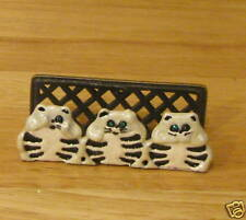 Pewter BUSINESS CARD HOLDER #H228 SEE NO, HEAR NO, SPEAK NO EVIL, Welforth CATS