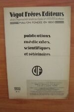 VIGOT FRERES EDITEURS : PUBLICATIONS MEDICALES, SCIENTIFIQUES ET VETER