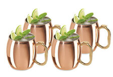 MOSCOW MULE MUGS, SET OF 4 16oz HIGH QUALITY COPPER MUGS