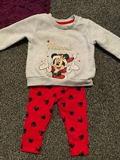 Disney Minnie Mouse Christmas Outfit Baby Girl 6-9 Months