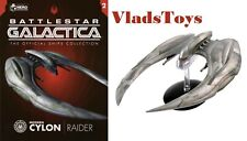 Battlestar Galactica Cylon Raider sparrow 2004 Eaglemoss w/Magazine issue #2