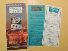 Carriage House Suite Hotel Las Vegas Nevada vintage brochure rate cards 1996