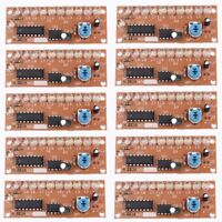 10pcs NE555+CD4017 White 10+1pc LED Light Water DIY Kit Electronic Suite Circuit