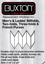 Buxton Vinyl Window Inserts for Accordion Style Wallet, Clear (12 PACKS)