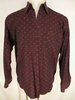 St Croix Mens Red Long Sleeve Cotton Shirt L Italy Made