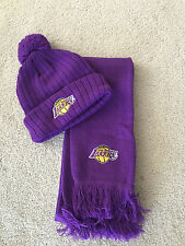 LA Lakers scarf and beanie set