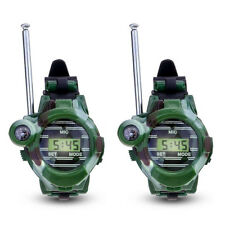 1 Pair LCD Radio 150M Watches Walkie Talkie 7 in 1 Children Watch (Green) Y A YS