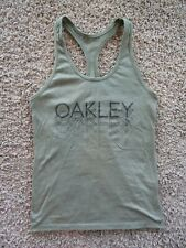 Oakley Ohydrilix Olive Green Sleeveless Running/Yoga Tank Top Women's XS