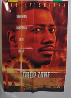 """Wesley Snipes Poster Drop Zone Movie Folded One Sheet 40""""x27"""" 1994"""