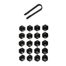 20x17mm Black Car Wheel Lug Bolt Nut Cover Cap Puller For Audi A7 A8 VW Golf