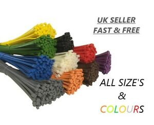 Cable Ties Nylon Extra Strong Zip Wraps Long Wide Thick Heavy Duty Cable Tie
