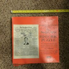 Vintage 1967 Parker Brothers New York Times Historic Puzzle Lindbergh's Flight