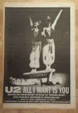 U2 All I want is you 1989 press advert Full page 30 x 42 cm mini poster