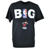 Adidas NBA Miami Heat BIG Tshirt Tee Black Adult Men Tshirt Tee XLarge XL Shirt