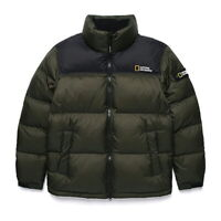 New NATIONAL GEOGRAPHIC Mens BISON RDS DUCK DOWN SHORT JACKET KHAKI S-3XL TAKSE