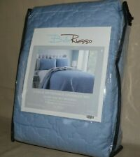 Bella Russo Lt. Blue Queen Size 3 Piece Reversible Coverlet Set in Brand New